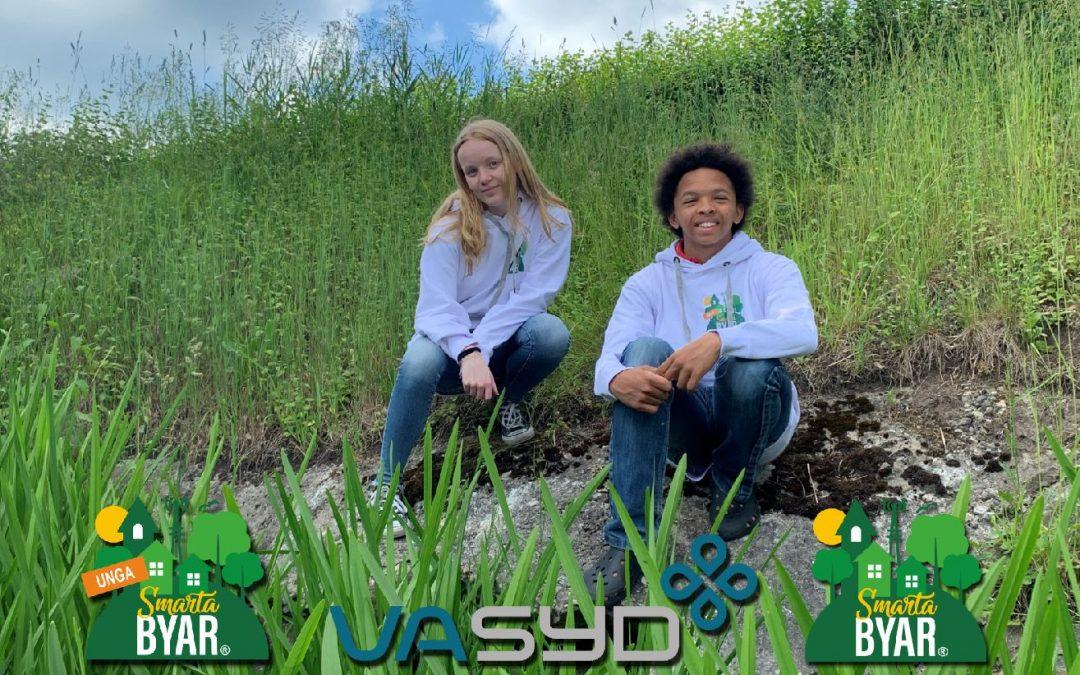 Bäcken i fokus i när Unga Smarta Byar och VA SYD gör gemensamt sommarprojekt!