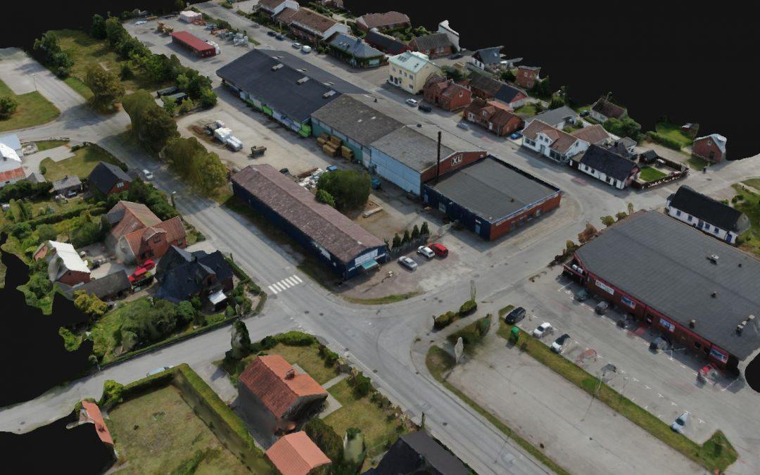 Nu bygger vi 3D av byn
