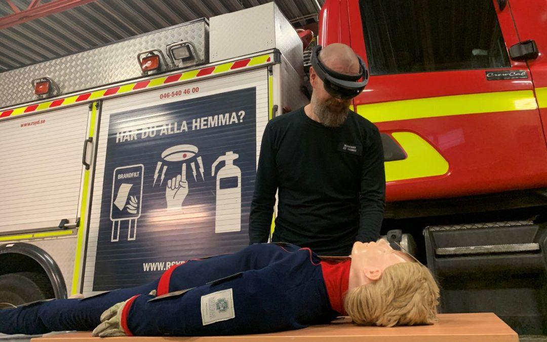 Veberöds brandmän först att utbildas med senaste tekniken.