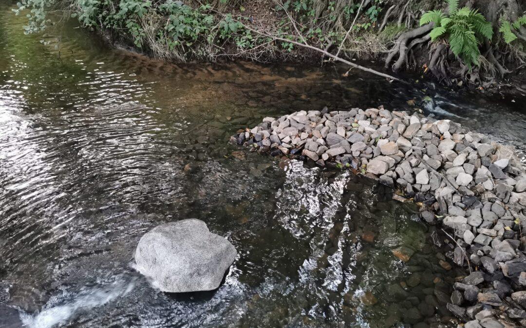 Sten mäter Veberödsbäcken live